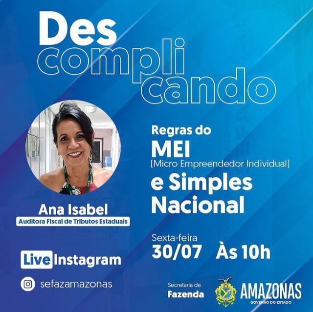 Sefaz Amazonas promove live sobre Simples Nacional e MEI